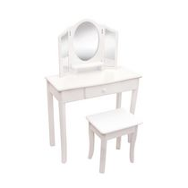 Guidecraft Classic Vanity and Stool, White