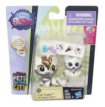 Figurine Lulu Foxley et Reynard Foxley emballage duo griffé de Littlest Pet Shop