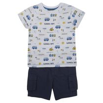 George British Design Toddler Boys' All Over Print T-Shirt & Cargo Short 2T