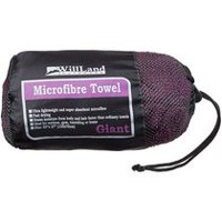 Serviette de voyage en microfibre WillLand Outdoors en violet