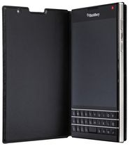 Blackberry Passport Leather Flip Case - Black