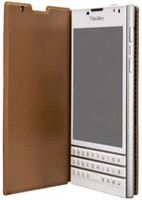 Blackberry Passport Leather Flip Case - Tan