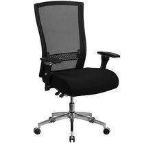HERCULES Series 24/7 Intensive Use 300 lb. Rated Black Leather Multifunction Ergonomic Office Chair with Seat Slider
