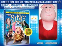 Sing (Blu-ray + DVD + Digital HD + Gunter Plush) (Walmart Exclusive) (Bilingual)