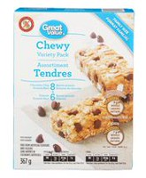 Great Value Chewy Granola Bars - Variety Pack, 367 g