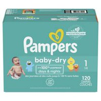 Pampers Couches Baby Dry format Super Taille 1