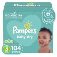 Pampers Couches Baby Dry format Super Taille 3