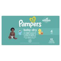 Pampers Couches Baby Dry format Super Taille 4