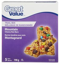 Great Value Trail Mix Mountain Chewy Nut Bars