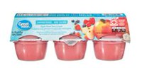Great Value Apple Mixed Berry Snack Unsweetened Cups