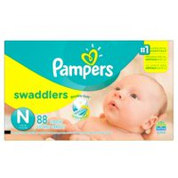 Pampers Couches Swaddlers format Supers Nouveau-né