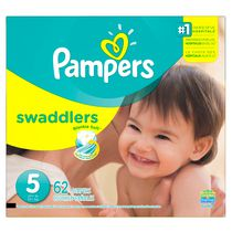 Pampers Couches Swaddlers format Supers Taille 5