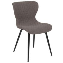 Bristol Contemporary Upholstered Chair in Black Fabric