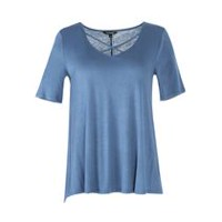 George Plus Women's Soft Jersey Tee Blue 2X