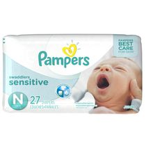 Pampers Couches Swaddlers Sensitive format Jumbo, Nouveau-né