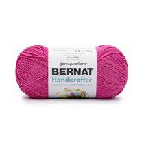 Bernat Handicrafter Cotton Yarn, Hot Pink, 14oz(400g), Medium, Cotton