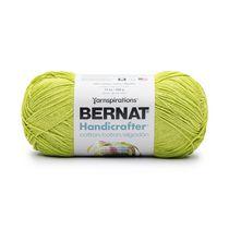 Bernat Handicrafter Cotton Yarn, Hot Green, 14oz(400g), Medium, Cotton