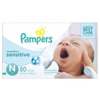 Pampers Couches Swaddlers Sensitive format Super Nouveau-né
