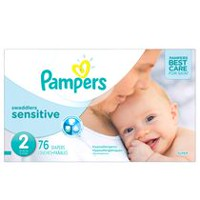 Pampers Couches Swaddlers Sensitive format Super Taille 2