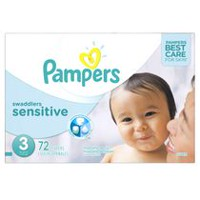 Pampers Couches Swaddlers Sensitive format Super Taille 3