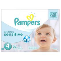 Pampers Swaddlers Sensitive Diapers Super Pack Size 4