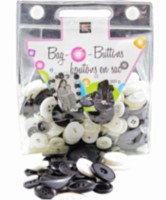 Bag O' Buttons Black and White