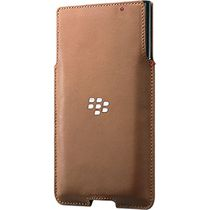 BlackBerry PRIV Leather Pocket Case in Tan