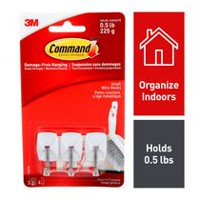Command™ Damage Free Hanging Small Wire Hooks - 17067C
