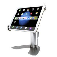 "CTA Digital Universal Dual Security Kiosk with Locking Holder & Anti-Theft Cable for iPad, Surface, & 7-13"" Tablets"