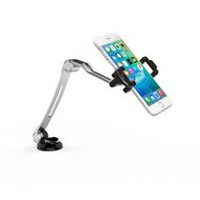 CTA Digital Compact Folding Arm Mount with Suction Base for Smartphones