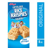 Kellogg's Rice Krisipes Squares Bars 176g - Original, 8 cereal bars