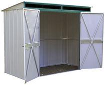 Arrow Euro Lite Pent Roof Green/Eggshell Steel Storage Shed