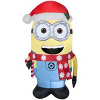 Airblown Self-Inflatable Minion Dave with Candy cane