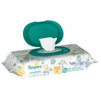 Pampers Sensitive Wipes Travel Pack, Count of 56