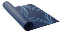 Lotus Printed Yoga Mat Navy Blue