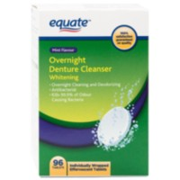 Equate Overnight Mint Flavour Denture Whitening Cleanser