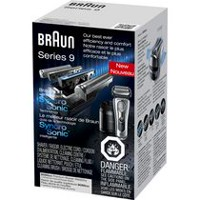Braun Series 9 9095cc Wet & Dry Premium Electric Shaver with Advanced Clean and Charge Station