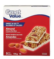 Great Value Sweet & Salty Almond Chewy Nut Bars