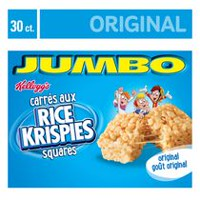 Kellogg's Rice Krisipes Squares Bars 660g Jumbo Pack - Original, 30 cereal bars