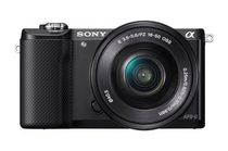 Sony a5000 Mirrorless Digital Camera with 16-50mm lens, ILCE5000LB - Black