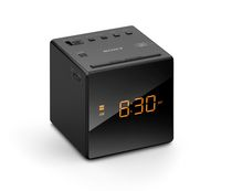 SONY Alarm Clock with FM/AM Radio, Black - ICFC1B