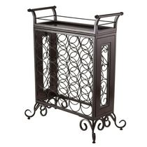 Winsome Silvano Wine Rack 5x5 with Removable Tray, Dark Bronze - 87523