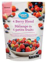 Great Value 4-Berry Frozen Fruit Blend
