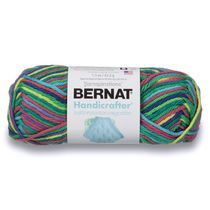 Bernat Handicrafter Cotton Ombres Yarn, Neptune Ombre, 1.5oz(42.5g), Medium, Cotton