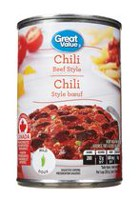 Great Value Beef Style Original Chili with Meat