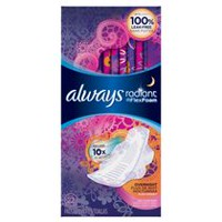 Always Radiant Flex Foam Overnight Pads with Wings