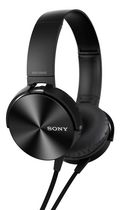 Sony Extra Bass Over-Ear Headphones with Microphone Black