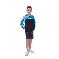 Boys Mini Pop Kids Blue Waves Jacket