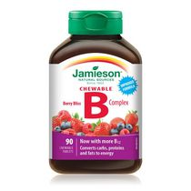 Jamieson Delicious Chewable Formula B Complex Berry Bliss Tablets