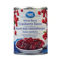 Sauce de canneberges entières de Great Value